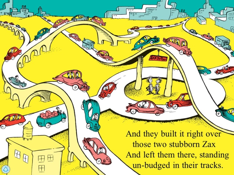 Zax Makes Tracks Illustration, by Dr. Seuss