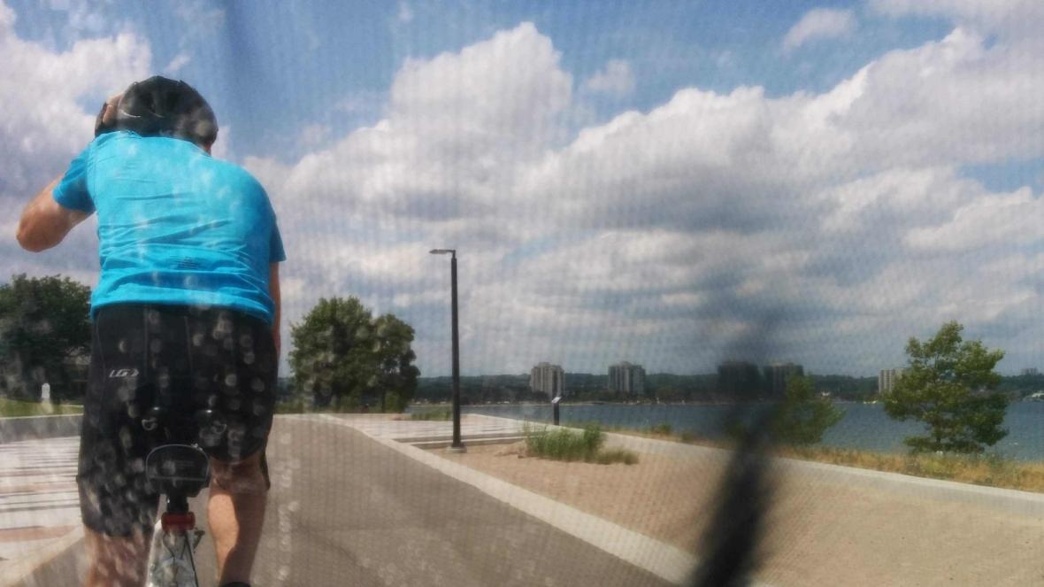 Trevor Biking Towing Heather