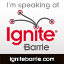 Ignite Barrie Speaker's Badge