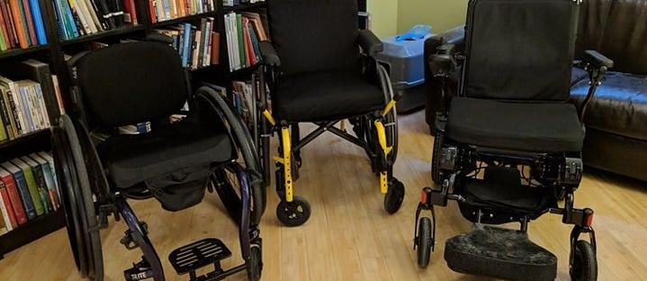 A Three-Wheelchair Family
