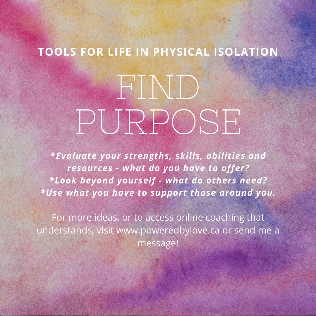 Tools for Living with Physical Isolation - Find Purpose